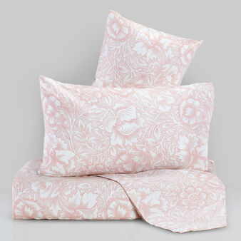 Satin bed linen set with morris print