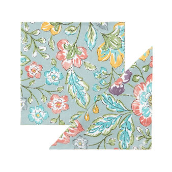 Set of 2 printed napkins in 100% cotton