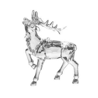 Cervo decorativo trasparente H 13cm