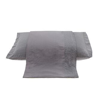 Linea letto in lino e raso