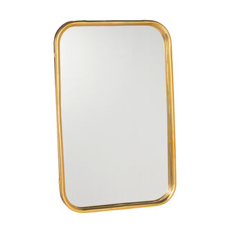Rectangular mirror in metal