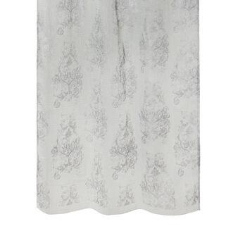 Linen blend throw with foil print