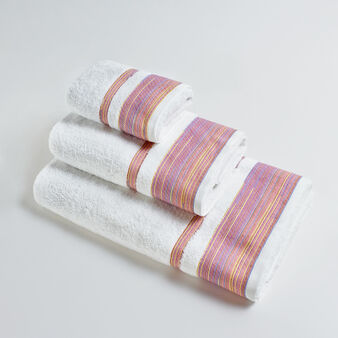 Multi-striped 100% cotton terry towel