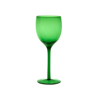 Coloured glass water goblet