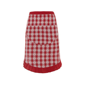 Waist apron with jacquard weave