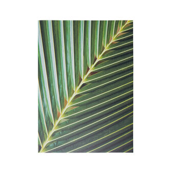 Canvas with palm leaf print