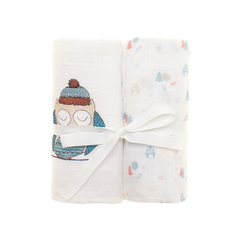 Two-pack patterned gauze towels