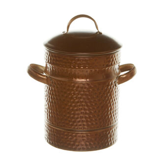 Textured copper jar with lid