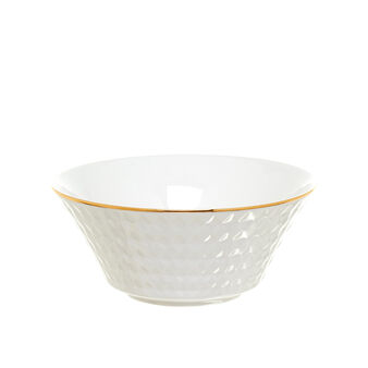 Porcelain bowl with diamond-shaped decoration