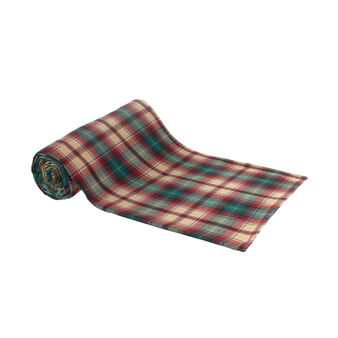 100% cotton twill tartan throw