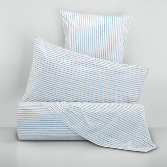 100% cotton percale striped bed linen set