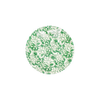 Glass side dish with floral decoration