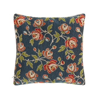 Cushion in floral gobelin fabric