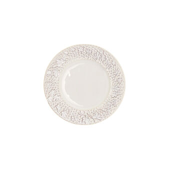 Isabel ceramic side plate with leaf rim