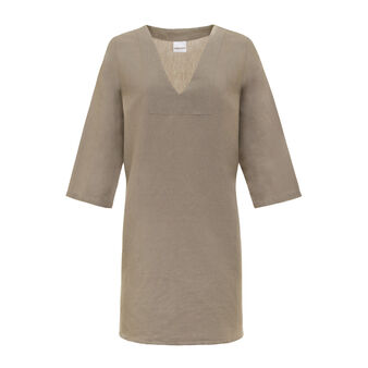 Cotton and linen tunic
