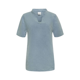 Linen and cotton top.