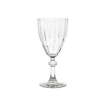 Glass water goblet with fluting