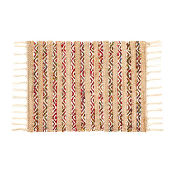 Ethnic style cotton and jute table mat