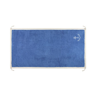 Beach towel in 100% cotton with nautical embroidery
