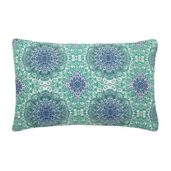 Cotton percale pillowcase with mandala print