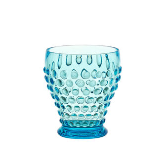 Plastic water glass with bubble decoration