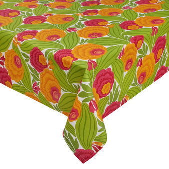 100% cotton table cloth with tropical flowers
