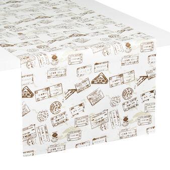 Postal cotton table runner