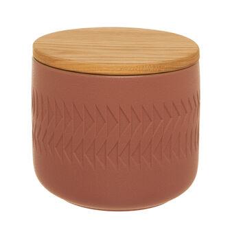 Barattolo in ceramica rosa