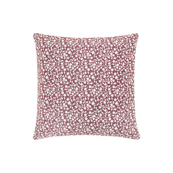 100% cotton cushion with small leaves print