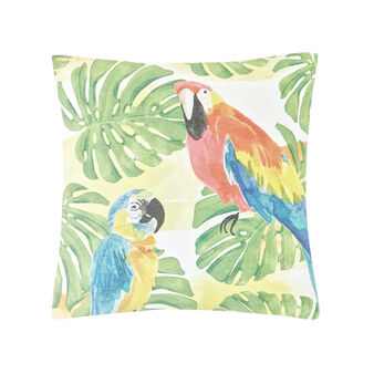 Cushion with parrot print