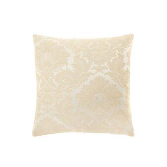 Damask patterned cushion
