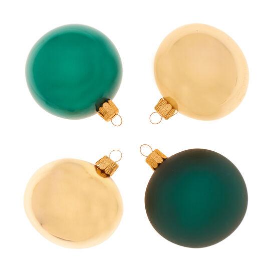 Set 4 sfere in vetro lucido e opaco D 7cm