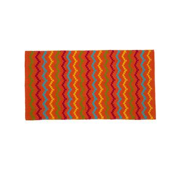 Zigzag kitchen mat