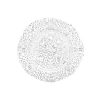 Serving platter in sparkling glass