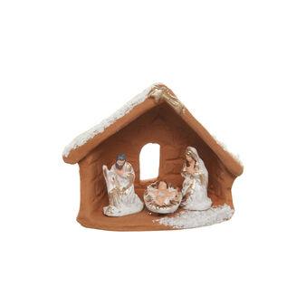 Capanna Natività in ceramica fatta a mano