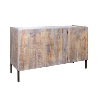 Chestnut wood, three-door credenza