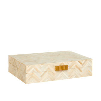 Handmade bone box with chevron design