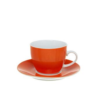 Tazza da té in porcellana arancione