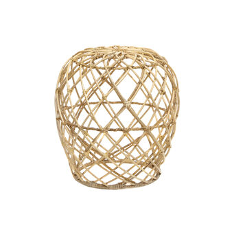 Rattan stool with mesh structure