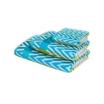 Set asciugamani cotone spigato
