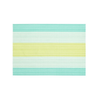 Striped PVC table mat