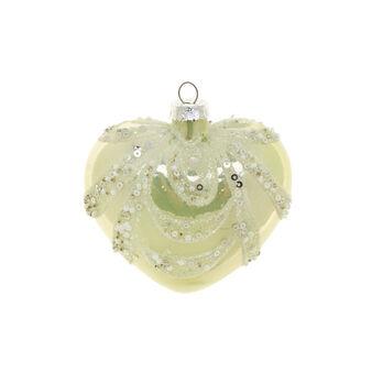 Decorazione natalizia vetro cuore D 9cm