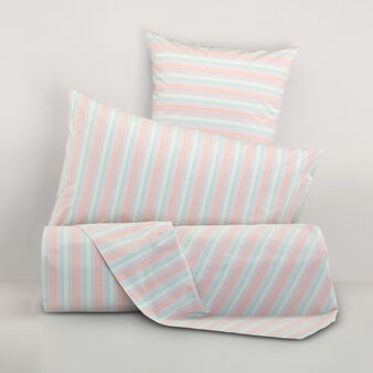 100% yarn-dyed cotton striped bed linen set