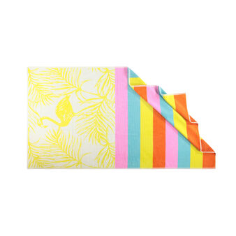 Yarn-dyed, patterned beach towel in 100% cotton