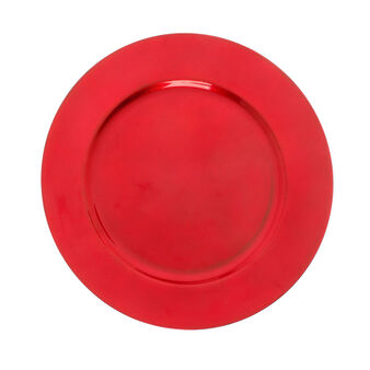 Charger plate in matt red plastic