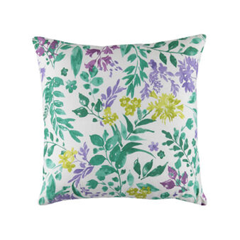 100% cotton cushion with botanical print