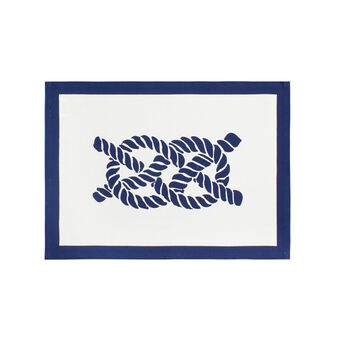 100% cotton nautical-style table mat