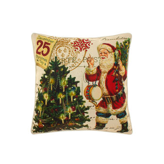 Cushion with vintage Christmas trees motif