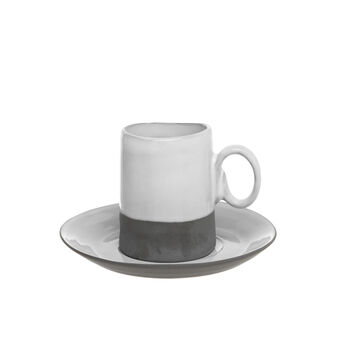 Two-tone porcelain coffee cup