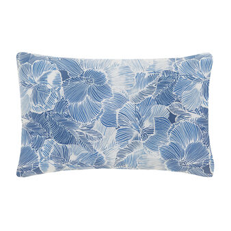 Patterned pillowcase in cotton satin